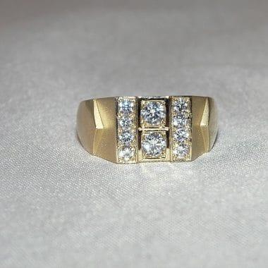 ring heren met zirkonia