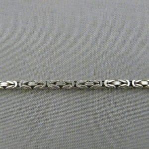 zilveren koningsketting