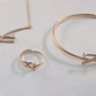 set ketting, armband, ring