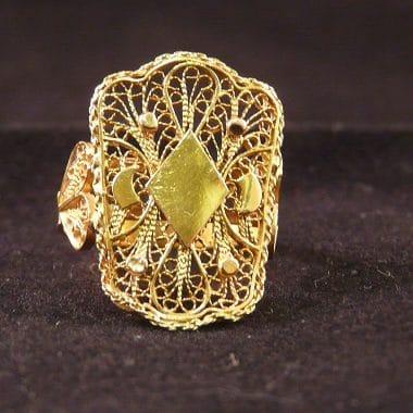 Gouden filigraan ring