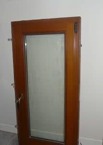 Houten raam binnenkant