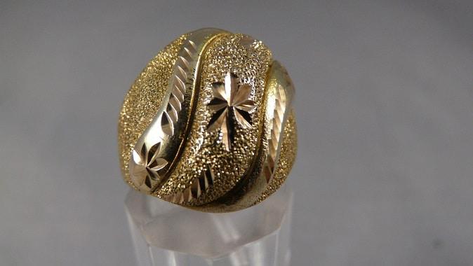 Wonderbaar Gouden brede damesring - Pandjeshuis HT-69