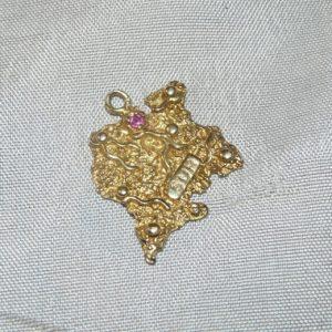 Gouden hanger Suriname hoofdfoto